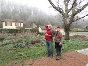 Michel et Mathieu au jardin